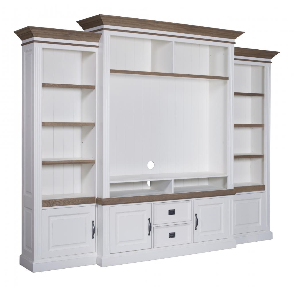 Biblioteca Lovely Oak TV 286 x 48 x 220